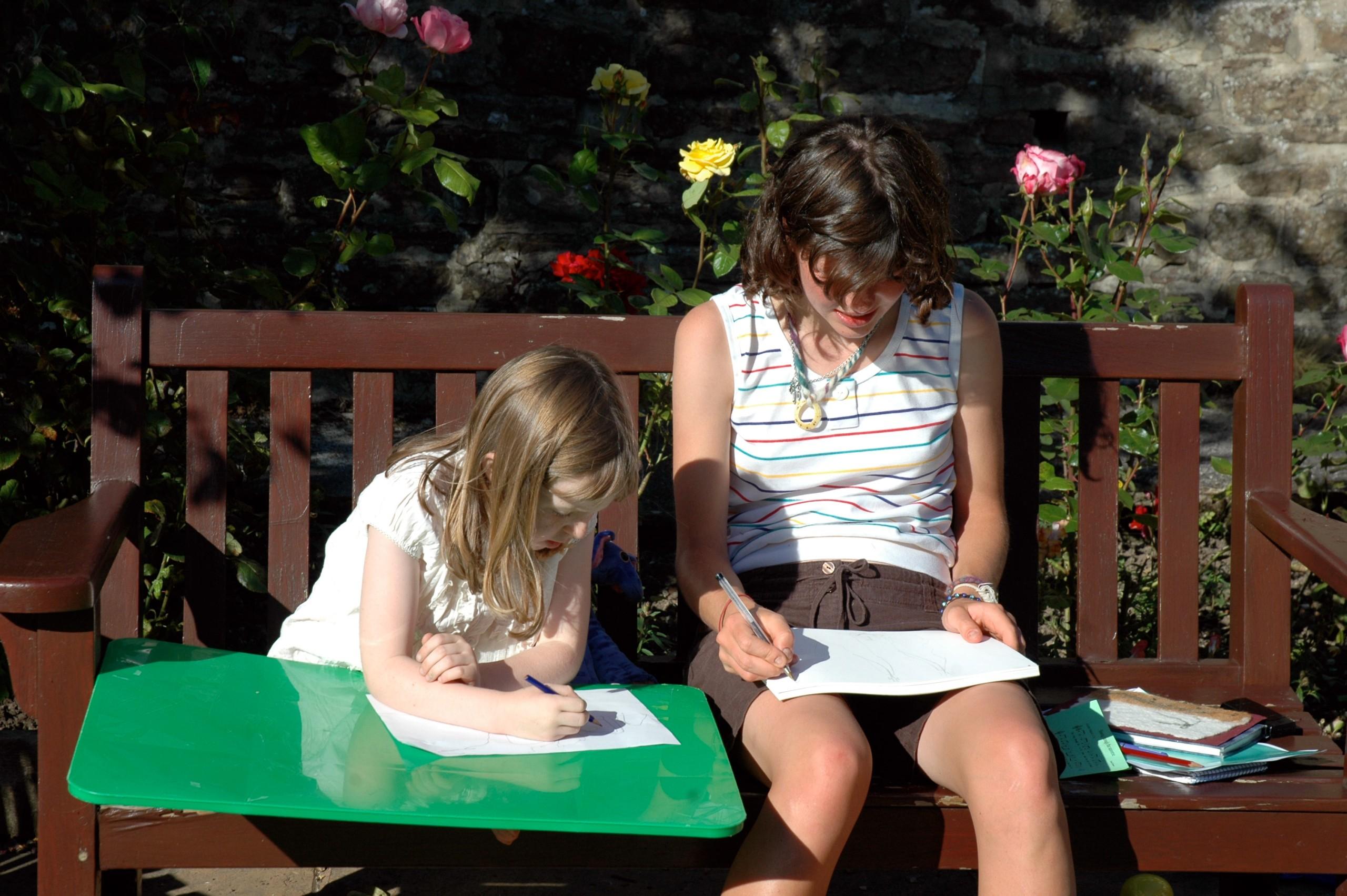 Iona and megan drawing